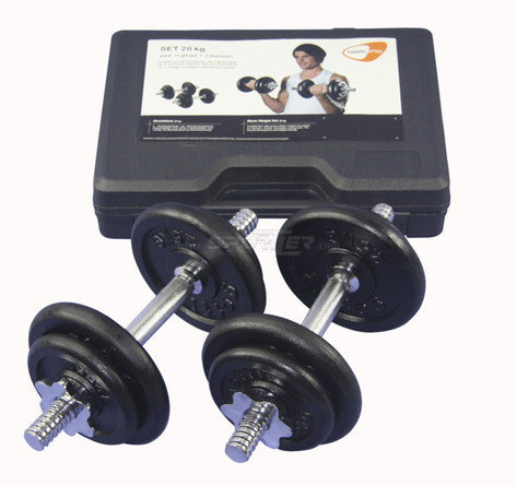 Get Fit 20 kg Weight Set + Plastic Box kaufen in Online Shop Zubehör Kraftsport  - Sportler