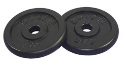 Get Fit Black Plate 2 x 2 kg
