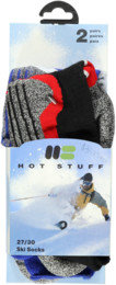 Hot Stuff 2-Pack Ski Sock