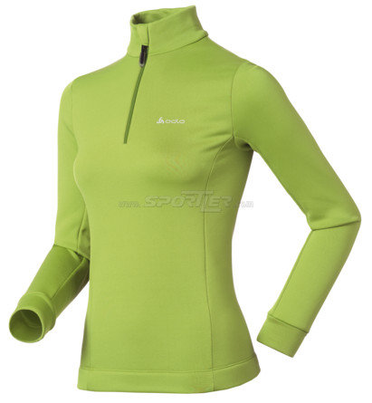 Odlo Stand-up collar 1/2 zip Sugar Bowl Jasmine Green kaufen in Online Shop Pullover  - Sportler