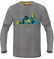ABK Shaper Ls Tee Herren Kletter- und Bouldershirt langärmelig, Grey