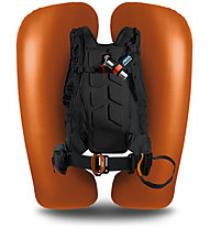 ABS Vario Base Unit Classic+Zip-On 8 - zaino airbag, Black/Orange