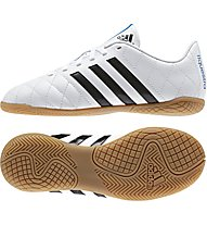 Adidas 11 Questra Indoor Fußballschuh Jr, White/Black