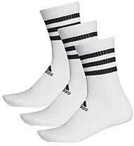 adidas 3-Stripes Cushioned - calzini (3 paia), White