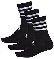adidas 3-Stripes Cushioned - calzini (3 paia), Black