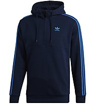 adidas Originals 3-stripes - felpa con cappuccio - uomo, Dark Blue/Light Blue