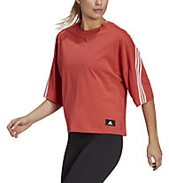 adidas 3-Stripes - T-shirt - donna, Red/White