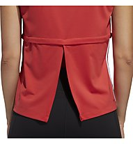 adidas 3 Stripe Cap Tee - Fitnessshirt - Damen, Red
