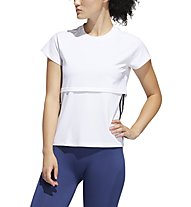 adidas 3 Stripe Cap Tee - Fitnessshirt - Damen, White/Black