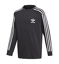 adidas Originals 3Stripes LS - Langarmshirt - Kinder, Black