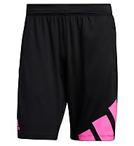 adidas 4K 3 Bar - Fitnesshose kurz - Herren, Black/Pink