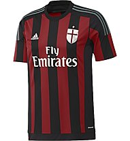 Adidas AC Milan Home Replica Player Shirt 2015/16, Black/Victory Red/Granite