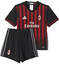 Adidas AC Milan Home Mini Kit - completo calcio bambino - Pantaloni Corti, Red/Black
