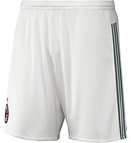 Adidas AC Milan Home Replica Player Pantaloncini 2015/16, Core White/Granite