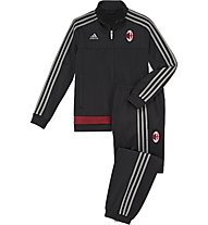 Adidas AC Milan Presentation Suit Junior, Black/S.Grey/V.Red