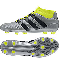Adidas ACE 16.1 Primeknit FG - scarpa da calcio, Grey/Yellow