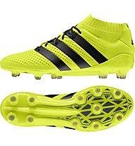 Adidas Ace 16.1 Primeknit FG - scarpe da calcio per terreni compatti, Yellow