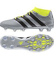 Adidas ACE 16.2 Pimemesh FG/AG - scarpa da calcio, Grey/Yellow