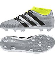 Adidas ACE 16.3 Primemesh FG/AG Jr - scarpa da calcio bambino, Grey/Yellow