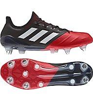 Adidas ACE 17.1 Leather SG - Fußballschuh für weichen Untergrund, Black/Red