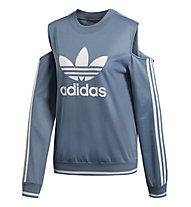 adidas Originals Active Icons Cut-Out Sweater - Fitnesspullover - Damen, Light Blue