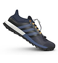 Adidas Adistar Raven Boost - scarpa trail running, Natural Navy/Mineral Blue