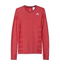 Adidas Adistar Wool Primeknit LS - maglia running, Red