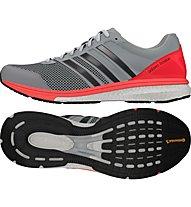 Adidas Adizero Boston Boost 5 - Laufschuhe, Clear Onix/Red