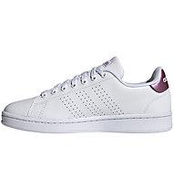 adidas Advantage - Sneaker - Damen, White/Pink