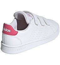 adidas Advantage - sneakers - bambina, White/Pink