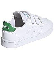 adidas Advantage C - Sneaker - Kinder, White/Green