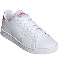 adidas Advantage K - Sneaker - Kinder, White/Pink