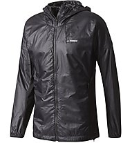 Adidas TERREX Agravic Alpha Hooded Shield - Windjacke Trailrunning - Herren, Black