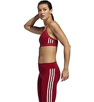 adidas All Me 3-Stripes - Sport BH leichter Halt, Red