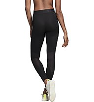 adidas Alphaskin Sport+ 3 stripes - pantaloni fitness - donna, Black