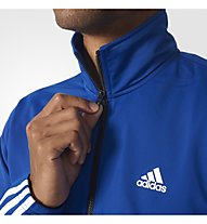 Adidas Back 2 Basics 3 Stripes - Trainingsanzug - Herren, Blue/Light Blue