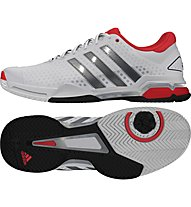 Adidas Barricade Team 4 all court, Ftwr White/Iron Met./Bright Red