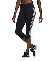 adidas Believe This 3 Stripe 3/4 - pantaloni fitness - donna, Black
