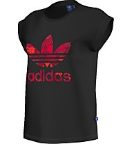 Adidas Originals Bf Roll Up Tee T-Shirt fitness donna, Black