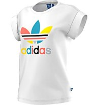 Adidas Originals Bf Roll Up Tee Damen T-Shirt Fitness Kurzam, White