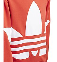 adidas Originals BG Trefoil Hood - felpa con cappuccio - bambino, Red