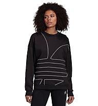 adidas Originals Big Trefoil - Sweatshirt - Damen, Black/White
