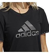 adidas BoS Necessi-Tee - Trainingshirt - Damen, Black/White