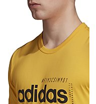 adidas Brilliant Basic - T-shirt - uomo, Yellow