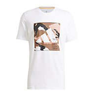 adidas Camo Bos Tee M - T-Shirt - Herren, White