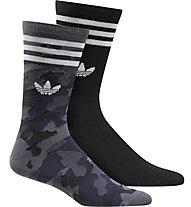 adidas Originals Camo Crew - calzini lunghi (2 paia), Black/Blue