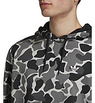 adidas Originals Camo Dipped Full Zip Hoodie - felpa con cappuccio - uomo, Grey/Black