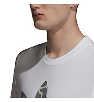 adidas Originals Camo Trefoil - T-shirt fitness - uomo, White