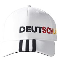 Adidas Germany 3 Stripes Cap - Schildkappe, White