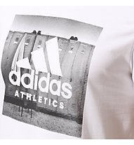 Adidas Category Ath - Fitness-T-Shirt - Herren, White